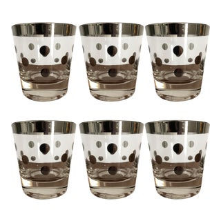 Dorothy Thorpe Polka Dot Glasses - Set of 6 For Sale