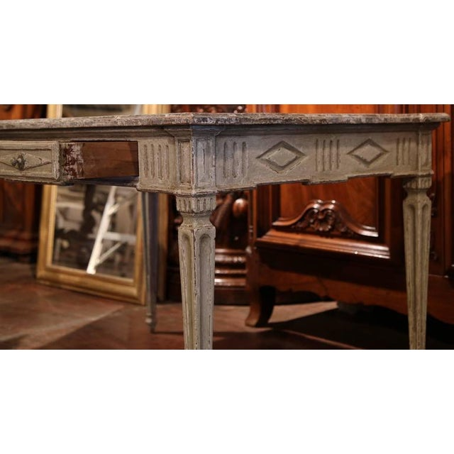 19th Century French Louis XVI Writing Desk For Sale In Dallas - Image 6 of 9