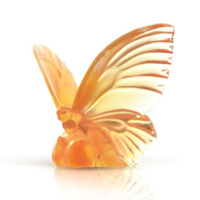 """Contemporary Liuli Crystal Art Crystal Butterfly """"Wings of Hope"""" Statue For Sale - Image 3 of 3"""