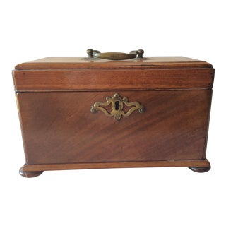 C. 1850 Victorian Mahogany Tea Caddy
