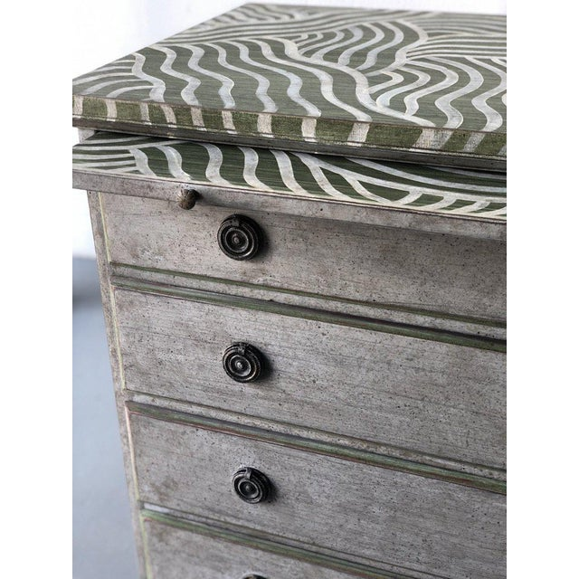 Wood Pair of Catharine Warren Painted Swedish Chests For Sale - Image 7 of 9