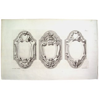 Antique 1728 Architectural Ornament English Print For Sale