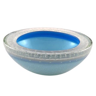 Vintage Murano Glass Control Bubble Bowl For Sale