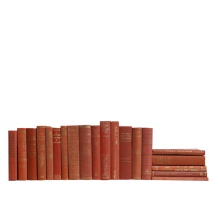Gilted Coral Collection - Set of Twenty Decorative Books For Sale