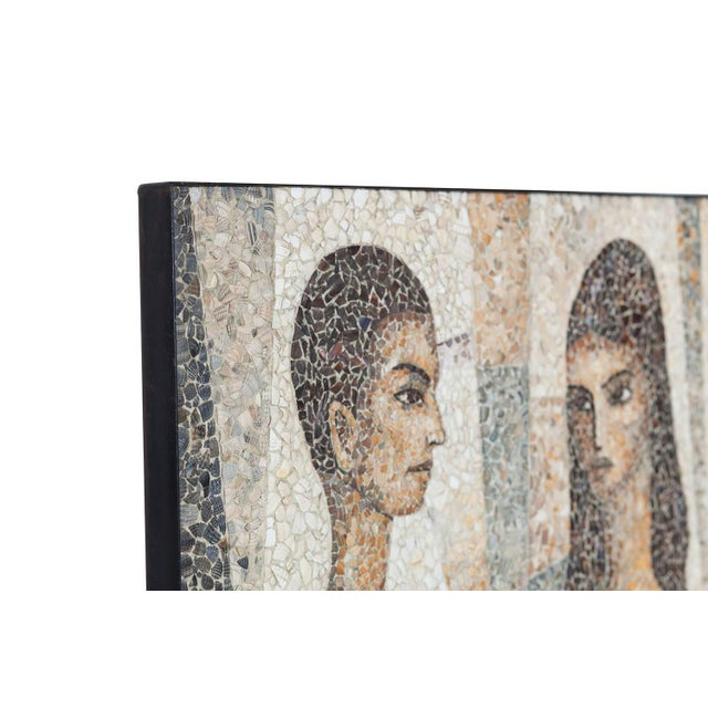 Tan Mosaïc Artwork in Shell by Manuel Iturri For Sale - Image 8 of 9