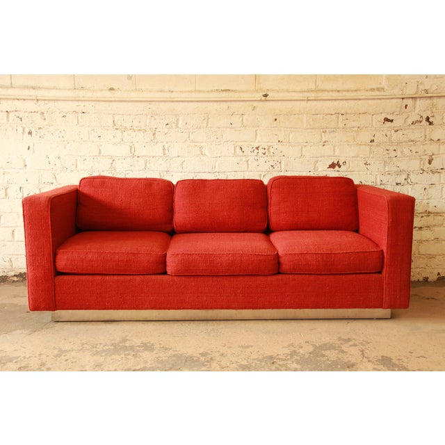 Milo Baughman Style Floating Sofa - Image 2 of 8