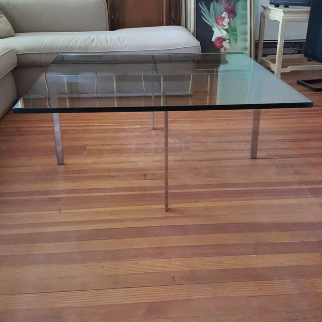 Modern Mies van der Rohe for Knoll Barcelona Table For Sale - Image 3 of 6
