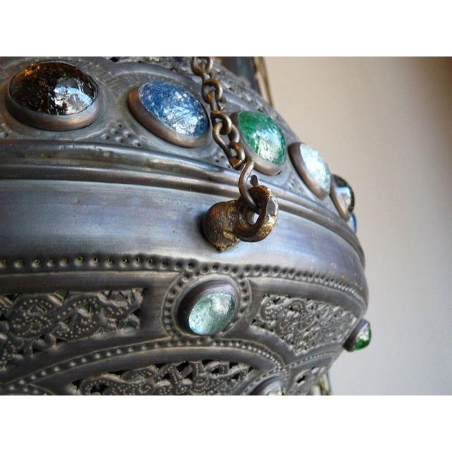 Moroccan Lantern with Glass Beads - Image 2 of 4