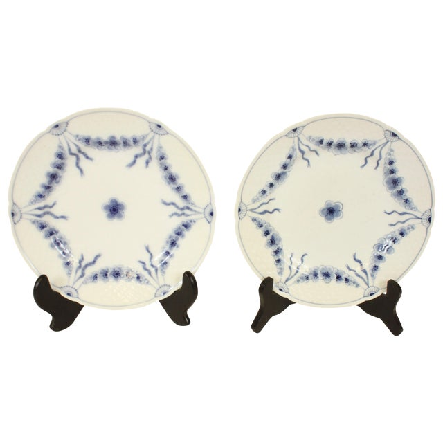 Bing & Grondahl Danish Blue Empire Plates- A Pair - Image 1 of 4