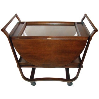 1950s Edward Wormley Serving Cart for Dunbar For Sale