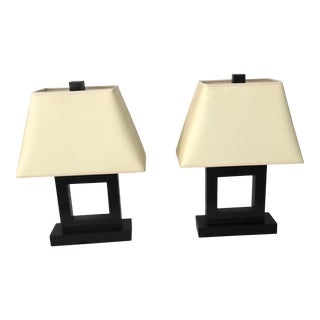 Robert Abbey Doughnut Table Lamps - Set of 2 For Sale