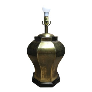 Large Brass Frederick Cooper Ginger Jar Table Lamp For Sale