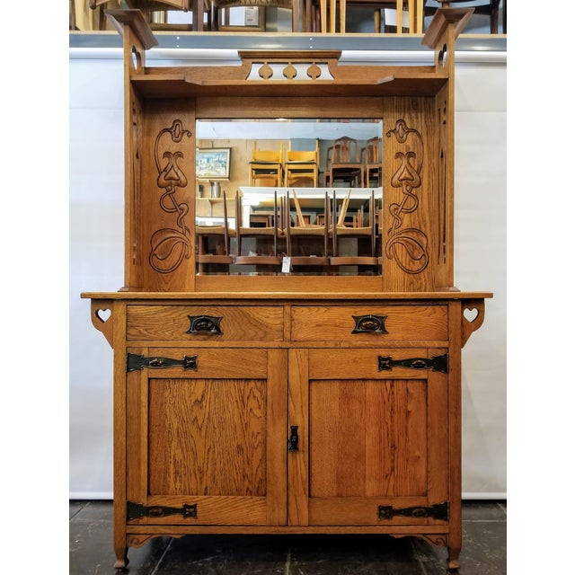 Early 20th Century Antique Shapland & Petter William Cowie Arts & Crafts Oak Sideboard For Sale - Image 11 of 11