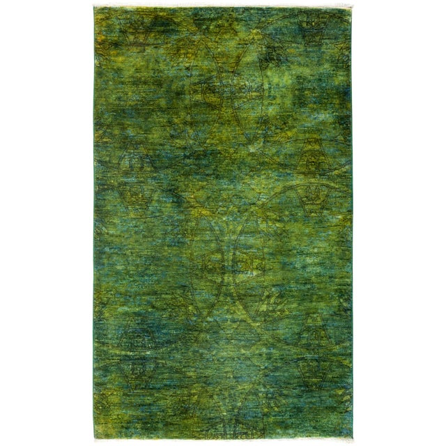 "New Overdyed Hand Knotted Area Rug - 3'2"" x 5'3"" - Image 1 of 2"