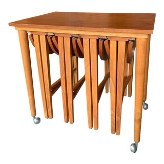 Danish Modern Nesting Side Table Set - 5 Pieces For Sale