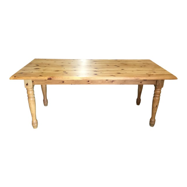 Vintage French Pine Farm Table For Sale