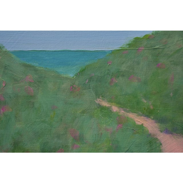 "Stephen Remick ""Path Through the Beach Roses"" Contemporary Painting by Stephen Remick For Sale - Image 4 of 11"