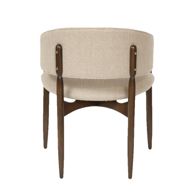 Customizable Set of Six Enroth Dining Chairs For Sale - Image 4 of 5