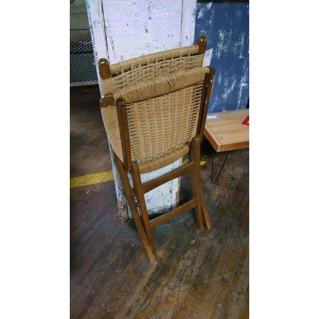 Danish-Style Folding Accent Chairs - A Pair - Image 6 of 6