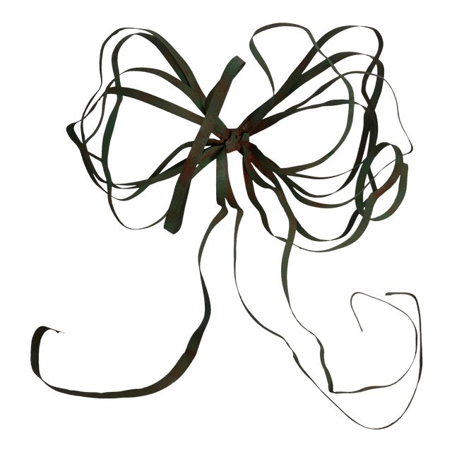 Vintage Green Tole Bow - Image 1 of 6