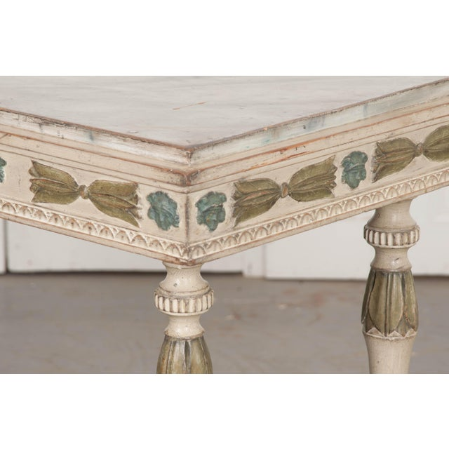 Swedish 19th Century Carved and Painted Console For Sale In Baton Rouge - Image 6 of 12