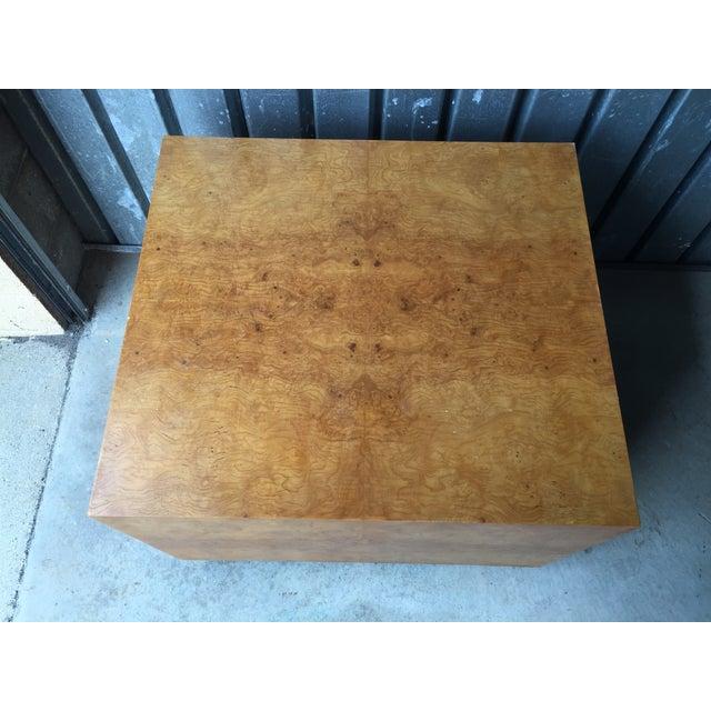 Mid-Century Olive Burl Pedestal Table - Image 6 of 7
