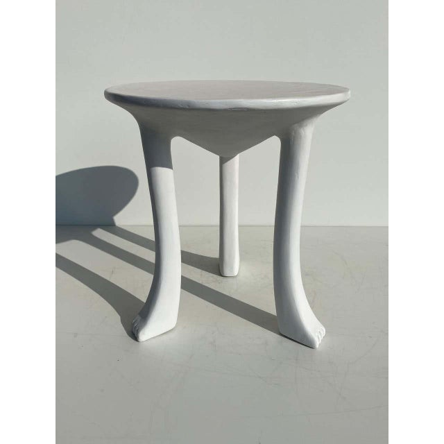 White African Side Tables with Feet - a Pair For Sale - Image 8 of 12