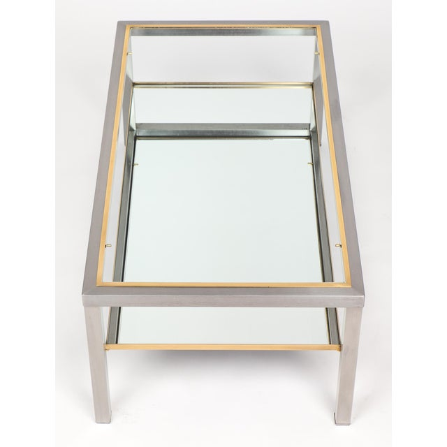 Brass Vintage French Modernist Coffee Table For Sale - Image 7 of 10