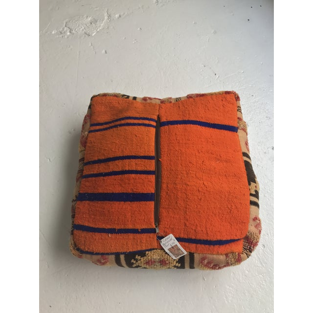 Moroccan Vintage Wool Pouf - Image 8 of 11