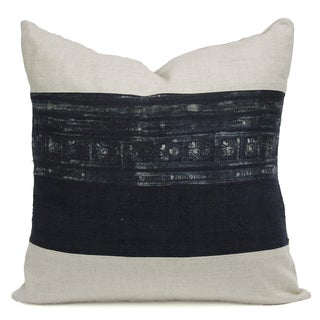 Vintage Indigo Batik Hmong Pillow For Sale