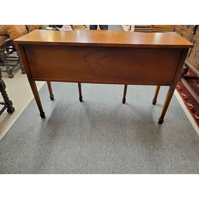 Early 20th Century Antique Georgian Style Flamed Mahogany Sideboard For Sale - Image 5 of 13