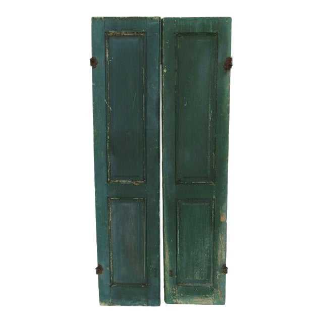 Green Cape May Shutters - A Pair For Sale