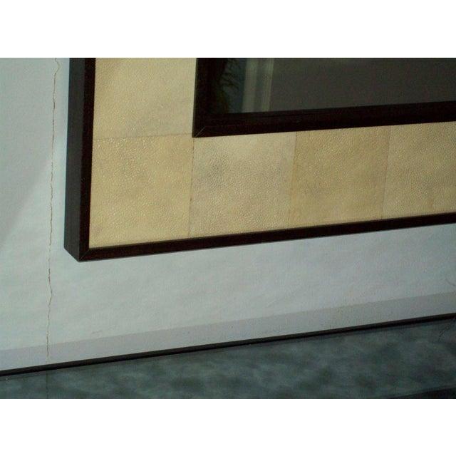 Custom Rectangular Shagreen Mirror For Sale - Image 4 of 6
