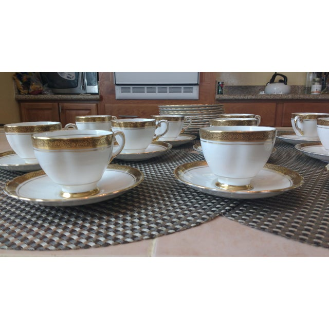 "Antique Tuscan ""Fine English"" Bone China Tea Set For Sale - Image 4 of 7"