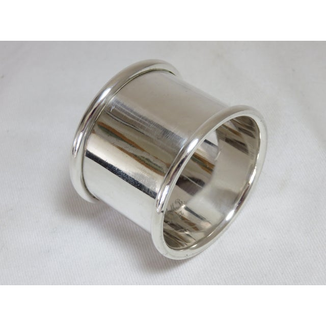 Traditional 1937 Vintage Towle Silversmiths Sterling Silver Napkin Ring For Sale - Image 3 of 6