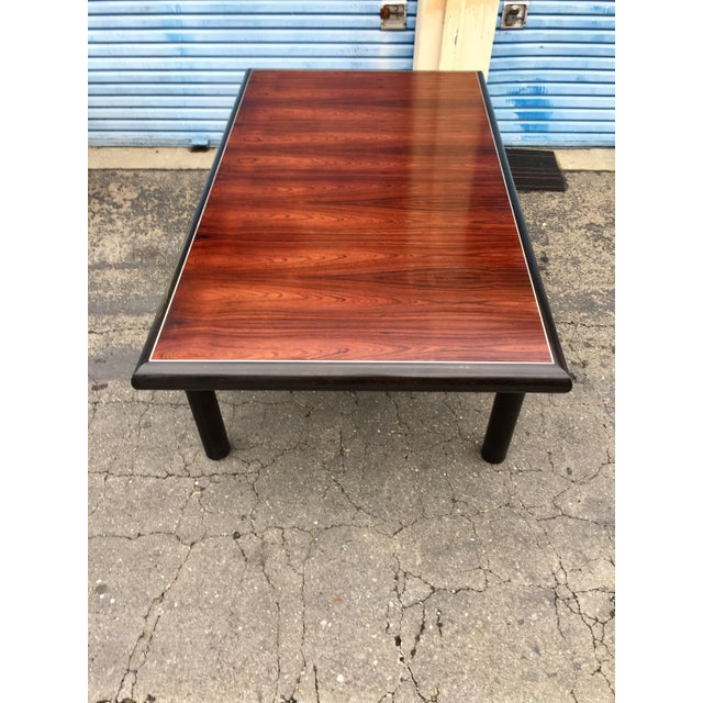 Brutalist Robert Baron for Glenn of California, Rosewood Top Dining Table For Sale - Image 3 of 6