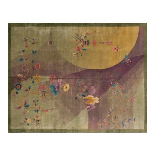 "1920s Chinese Art Deco Rug - 8'10""x11'4"" For Sale"