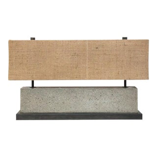 Concrete Table Lamp For Sale