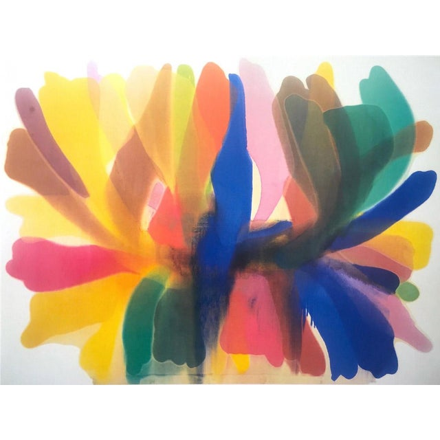 """Rare, Vintage, Bold and Vibrant, Morris Louis 1989 Exhibition Lithograph Poster, entitled, """"Point of Tranquility"""". This..."""