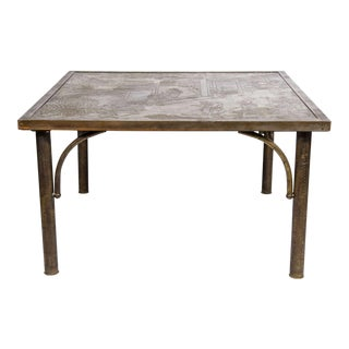 Exquisite Chinoiserie Cocktail Table by Philip and Kelvin LaVerne For Sale