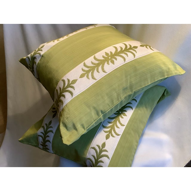 Contemporary Pillow Covers in Clarence House Fabric - A Pair For Sale - Image 4 of 10