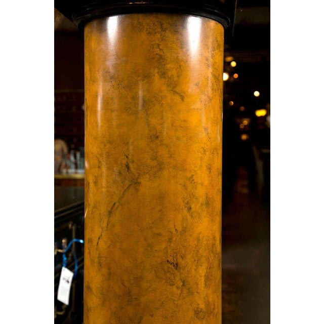 Lamps on Column Pedestals - A Pair For Sale - Image 4 of 8