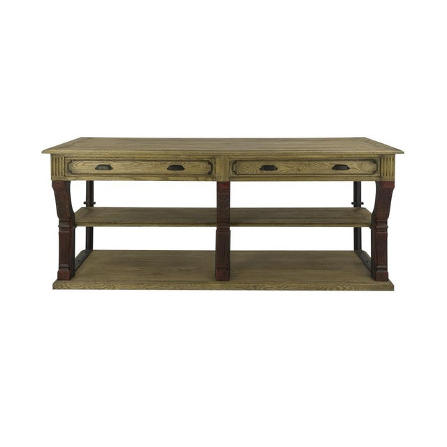 Antique Oak Barley Console For Sale In Raleigh - Image 6 of 6