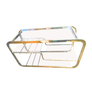 1970's Mid-Century Modern Milo Baughman Brass Etagere For Sale