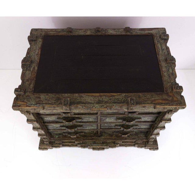 Impressive Brutalist Art Drawer Cabinet With a Beautiful Patina, Signed Ar-bo - Image 5 of 9