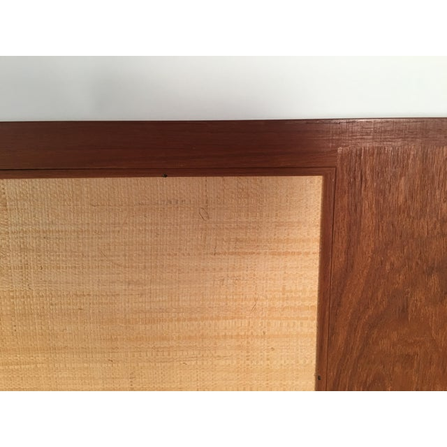 Danish Modern Danish Teak and Grass Cloth Double Sided King-Size Headboard by Falster For Sale - Image 3 of 8