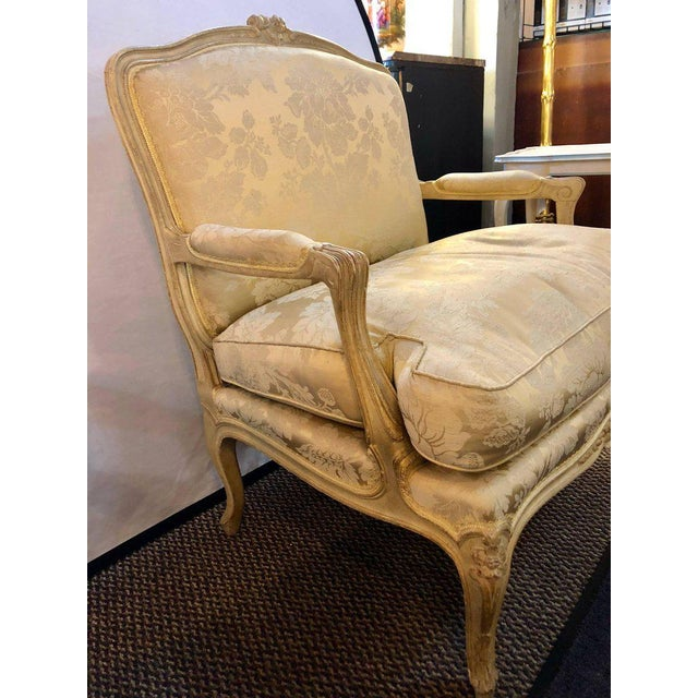 Louis XV Style Lounge Chairs by Maison Jansen - a Pair For Sale - Image 9 of 11