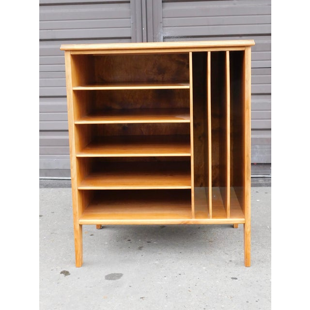 Wood 1950s Swedish Mid-Century Modern Open Filing Cabinet For Sale - Image 7 of 9