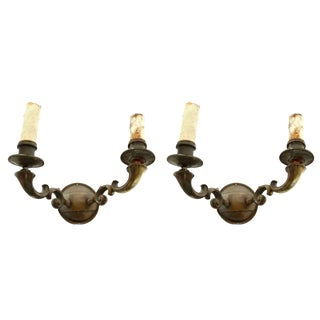 Bronze Spanish Colonial Sconces - A Pair For Sale