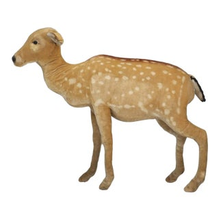 "1963 Steiff Mohair Fallow Deer ""Studio Animal"" For Sale"